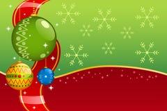 οι διακοσμήσεις Χριστουγέννων ανασκόπησης προσεκτικά επισημαμένος Στοκ Εικόνες