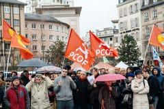 Οι διαμαρτυρόμενοι σύλλεξαν στο pla της τετραγωνικής κυβέρνησης διαμαρτυρίας Kleber Στοκ Φωτογραφία