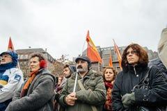 Οι διαμαρτυρόμενοι σύλλεξαν στο pla της τετραγωνικής κυβέρνησης διαμαρτυρίας Kleber Στοκ φωτογραφία με δικαίωμα ελεύθερης χρήσης