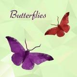 Οι διανυσματικές πεταλούδες χρωματίζουν γεωμετρικό Στοκ φωτογραφία με δικαίωμα ελεύθερης χρήσης