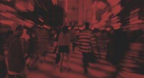Οι ιαπωνέζοι συσσωρεύουν έννοια οδών περπατήματος τη διαγώνια Στοκ Φωτογραφία