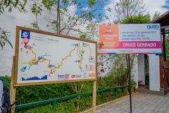 Οι διαφημίσεις πριν από εισάγονται στο πάρκο, την ασφάλεια και τους εύκολους τρόπους να γίνει η άσκηση Στοκ Εικόνες