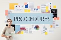 Οι διαδικασίες επεξεργάζονται την έννοια συστημάτων βημάτων στοκ φωτογραφία