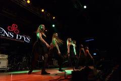 Οι ιρλανδικοί χορευτές αποδίδουν στη λέσχη MI το 16-03-2018 ζωντανής μουσικής Στοκ Φωτογραφίες