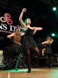 Οι ιρλανδικοί χορευτές αποδίδουν στη λέσχη MI το 16-03-2018 ζωντανής μουσικής Στοκ φωτογραφία με δικαίωμα ελεύθερης χρήσης
