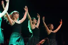 Οι ιρλανδικοί χορευτές αποδίδουν στη λέσχη MI το 16-03-2018 ζωντανής μουσικής Στοκ Εικόνες