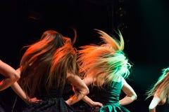 Οι ιρλανδικοί χορευτές αποδίδουν στη λέσχη MI το 16-03-2018 ζωντανής μουσικής Στοκ εικόνα με δικαίωμα ελεύθερης χρήσης