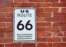 Οι ιστορικές ΗΠΑ καθοδηγούν το σημάδι 66 Στοκ Εικόνα