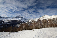 Οι ιταλικές Άλπεις το χειμώνα, επικολλούν Viso Στοκ εικόνα με δικαίωμα ελεύθερης χρήσης