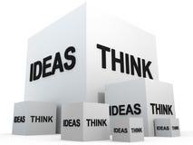 οι ιδέες σκέφτονται Στοκ φωτογραφία με δικαίωμα ελεύθερης χρήσης