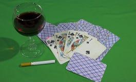 οι κάρτες είχαν μια βασιλική εκροή στοκ εικόνα με δικαίωμα ελεύθερης χρήσης