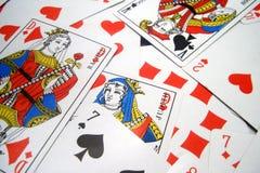 οι κάρτες κλείνουν επάνω Στοκ Εικόνες