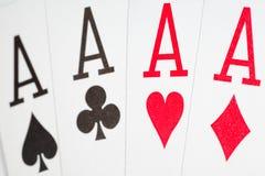 οι κάρτες κλείνουν να παί& Στοκ Εικόνα