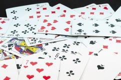 οι κάρτες ξεπλένουν το πόκερ παιχνιδιού βασιλικό στοκ φωτογραφίες με δικαίωμα ελεύθερης χρήσης