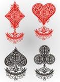 οι κάρτες ξεπλένουν το πόκερ παιχνιδιού βασιλικό διανυσματική απεικόνιση