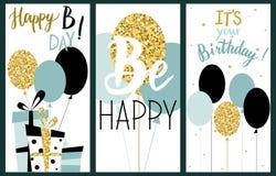 Οι κάρτες που τίθενται με τα μπαλόνια, παρουσιάζουν και γράφοντας κείμενο Χρώμα μεντών Στοκ Εικόνες