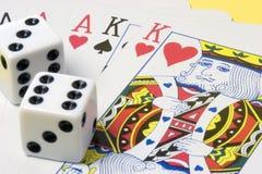 οι κάρτες χωρίζουν σε τετράγωνα Στοκ Εικόνα