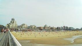 Οι Κάτω Χώρες, Χάγη: άποψη της παραλίας πόλεων, Βόρεια Θάλασσα απόθεμα βίντεο