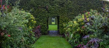 Οι κήποι ενός αγγλικού κτήματος στοκ εικόνες