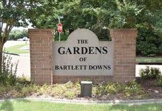 Οι κήποι Bartlett κατεβάζουν, Bartlett, TN στοκ εικόνα με δικαίωμα ελεύθερης χρήσης