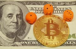 Οι κίνδυνοι επενδύουν στο bitcoin Στοκ φωτογραφία με δικαίωμα ελεύθερης χρήσης