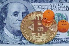 Οι κίνδυνοι επενδύουν στο bitcoin Στοκ Εικόνα