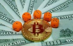 Οι κίνδυνοι επενδύουν στο bitcoin Στοκ Φωτογραφίες