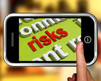 Οι κίνδυνοι στο σύννεφο του Word παρουσιάζουν τους επενδυτικούς κινδύνους και κρίση οικονομίας απεικόνιση αποθεμάτων