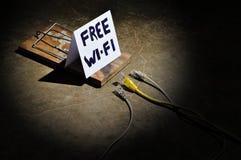Οι κίνδυνοι της ελεύθερης WI-Fi στοκ φωτογραφίες