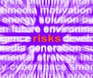Οι κίνδυνοι Word παρουσιάζουν το κέρδος και απώλεια επένδυσης διανυσματική απεικόνιση