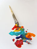 οι καλλιτέχνες βουρτσίζουν το χρώμα Στοκ φωτογραφία με δικαίωμα ελεύθερης χρήσης
