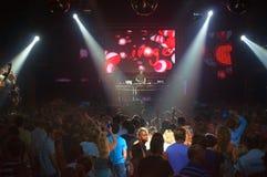 Οι καλύτεροι άνθρωποι Ibiza συμβαλλόμενων μερών νυχτερινών κέντρων διασκέδασης του DJ Στοκ φωτογραφία με δικαίωμα ελεύθερης χρήσης