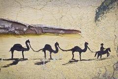 οι καμήλες εγκαταλείπ&omic Στοκ φωτογραφία με δικαίωμα ελεύθερης χρήσης