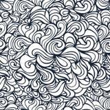 Οι καμπύλες Doodle περιγράφουν το διακοσμητικό άνευ ραφής σχέδιο Στοκ Φωτογραφίες