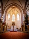 Οι καρέκλες στην εκκλησία Στοκ Εικόνες