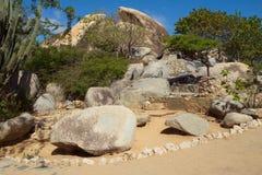οι Καραϊβικές Θάλασσες Το νησί της Αρούμπα Εθνικό πάρκο Arikok Στοκ Φωτογραφία