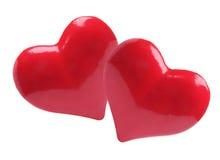 οι καρδιές αγαπούν το κόκ&k Στοκ Εικόνες