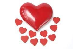 οι καρδιές αγαπούν το κόκ&k Στοκ φωτογραφία με δικαίωμα ελεύθερης χρήσης