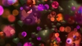 Οι καρδιές αγαπούν το ρομαντικό μόριο διανυσματική απεικόνιση