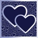 οι καρδιές ασημώνουν δύο Στοκ φωτογραφία με δικαίωμα ελεύθερης χρήσης