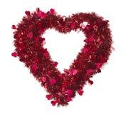 οι καρδιές καρδιών διαμόρφωσαν λαμπρό μικρό tinsel Στοκ εικόνα με δικαίωμα ελεύθερης χρήσης