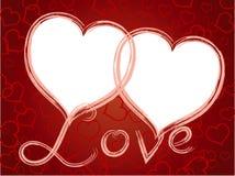 οι καρδιές πλαισίων αγαπ&o Στοκ φωτογραφία με δικαίωμα ελεύθερης χρήσης