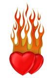 οι καρδιές πυρκαγιάς απ&omicr Στοκ Φωτογραφίες