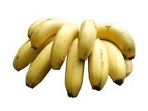 οι καρποί μπανανών ανασκόπησης απομόνωσαν το λευκό Στοκ φωτογραφία με δικαίωμα ελεύθερης χρήσης