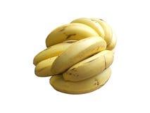 οι καρποί μπανανών ανασκόπησης απομόνωσαν το λευκό Στοκ Φωτογραφίες