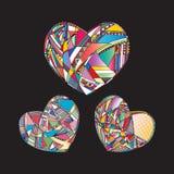 Οι καρδιές δίνουν το συρμένο διανυσματικό υπόβαθρο Αφηρημένη τυποποιημένη απεικόνιση αγάπης Στοκ φωτογραφίες με δικαίωμα ελεύθερης χρήσης