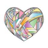 Οι καρδιές δίνουν το συρμένο διανυσματικό υπόβαθρο Αφηρημένη τυποποιημένη απεικόνιση αγάπης Στοκ Φωτογραφία