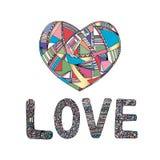 Οι καρδιές δίνουν το συρμένο διανυσματικό υπόβαθρο Αφηρημένη τυποποιημένη απεικόνιση αγάπης Στοκ εικόνα με δικαίωμα ελεύθερης χρήσης