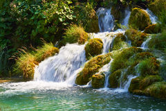 Οι καταρράκτες του εθνικού πάρκου Plitvice στην Κροατία στοκ εικόνα