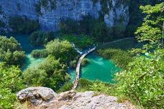 Οι καταρράκτες του εθνικού πάρκου Plitvice στην Κροατία στοκ εικόνες